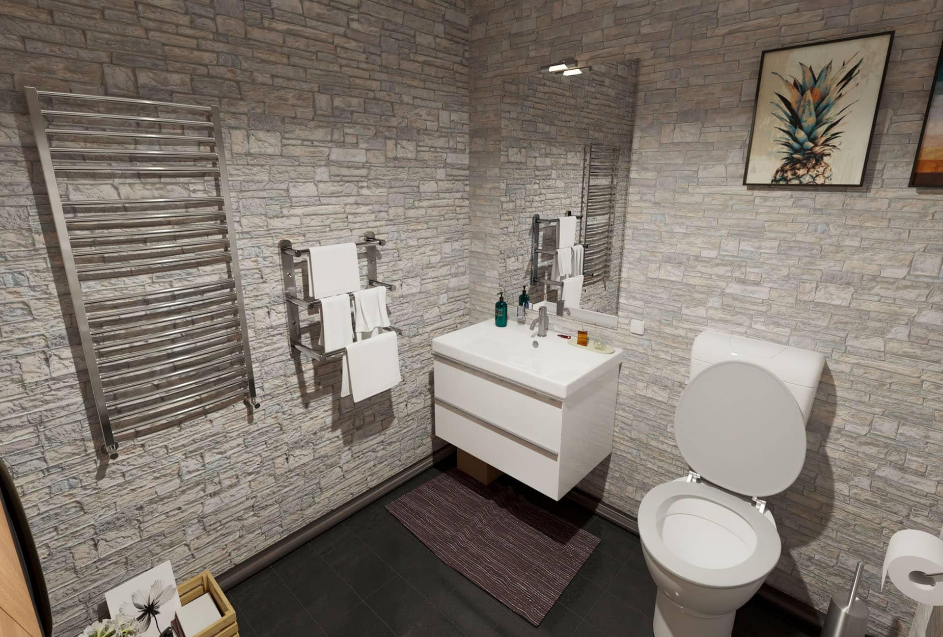 Tualeto 3d vizualizacija