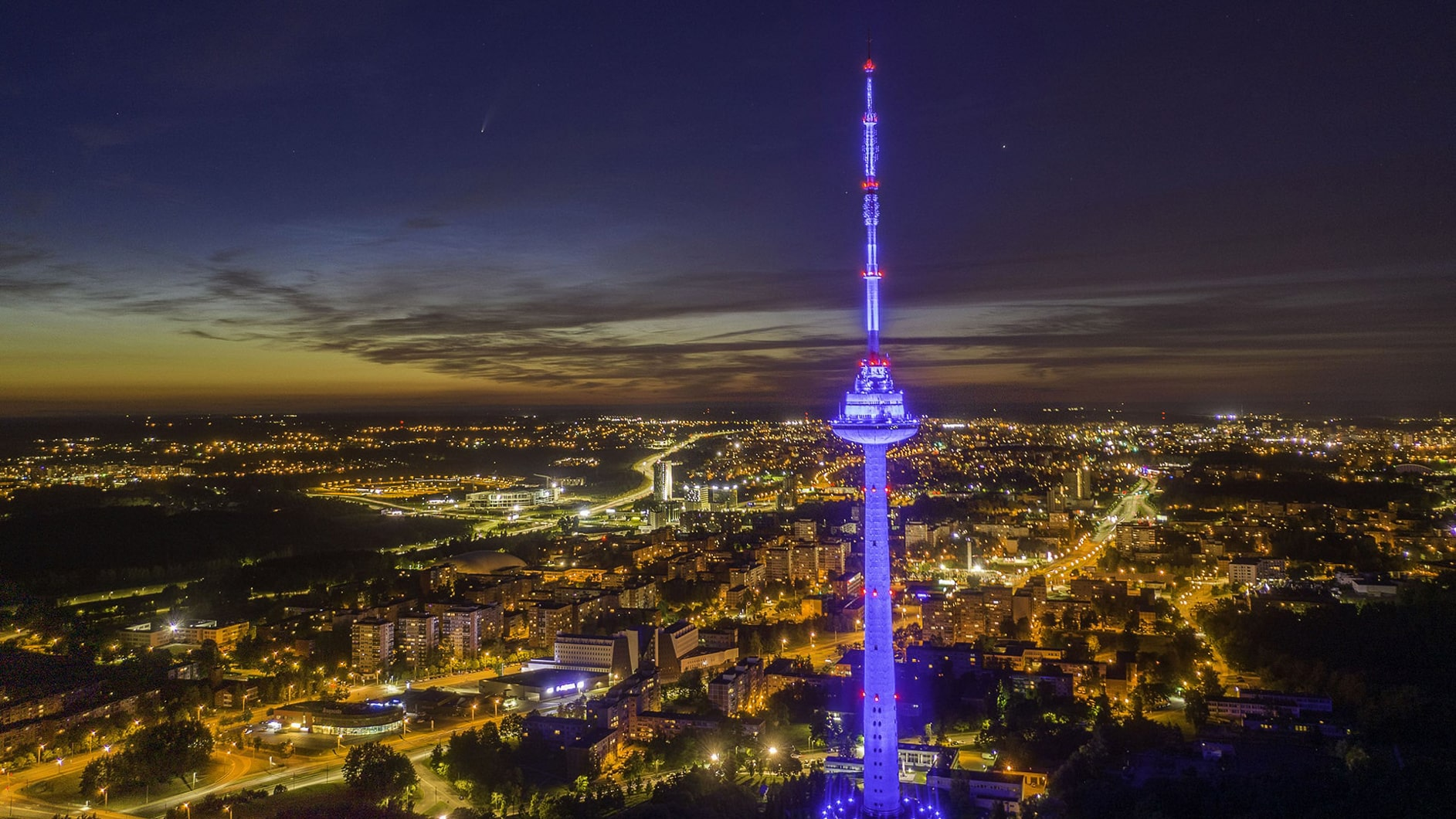 TV bokštas fotografuotas dronu