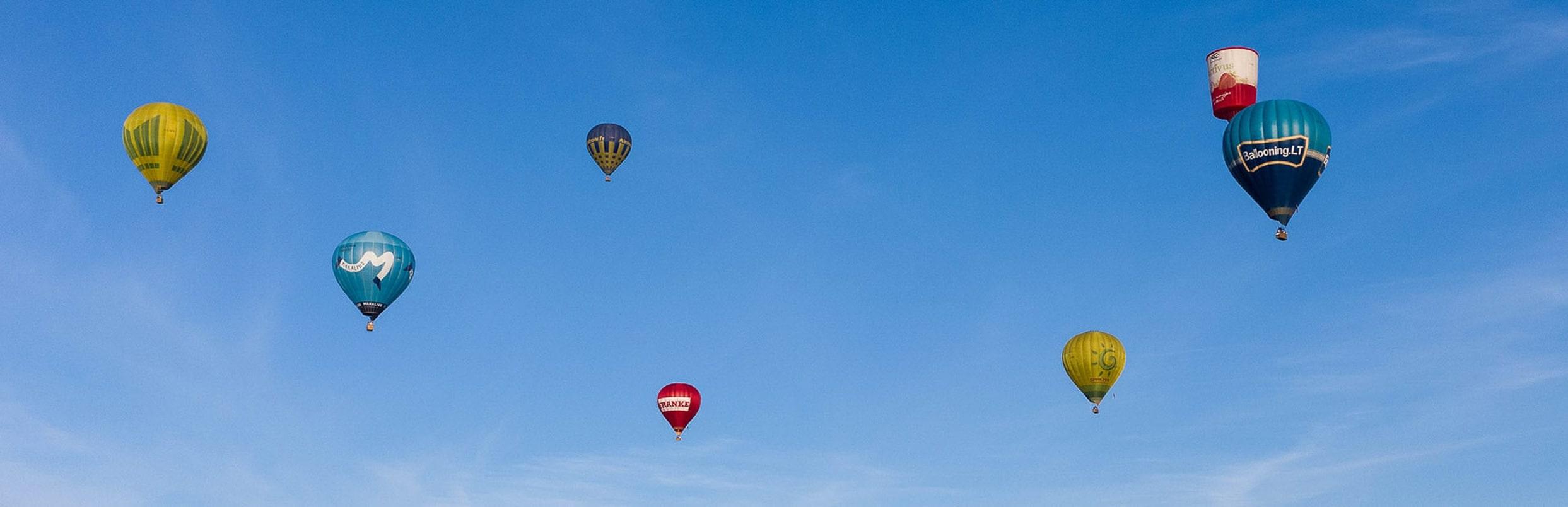 Nuotrauka balionų iš oro